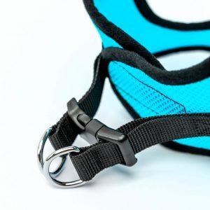 aqua mesh step-in dog harness detail