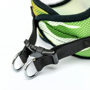camo mesh step-in dog harness detail