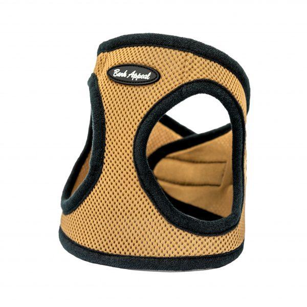 tan mesh step-in dog harness