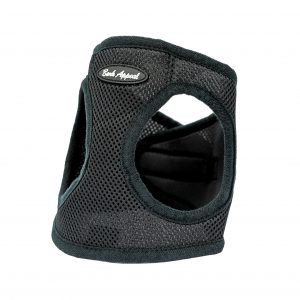 black mesh step-in dog harness