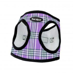 Purple plaid mesh Dog Harness