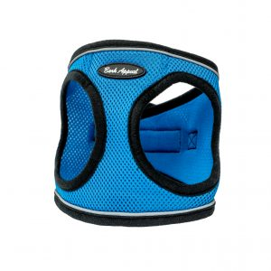 blue reflective mesh step-in dog harness