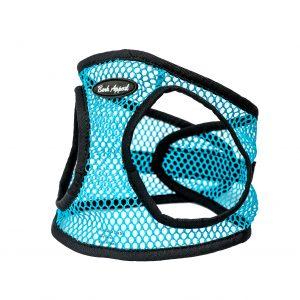 Aqua netted step in dog harness