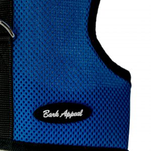 blue wrap and go mesh dog harness