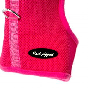 pink wrap and go mesh dog harness detail