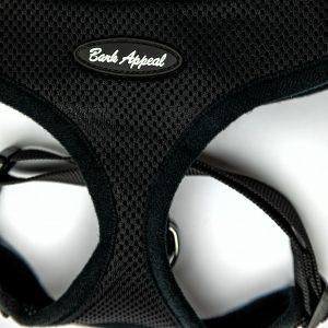 black mesh pullover dog harness detail