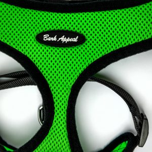 neon green mesh pullover dog harness detail