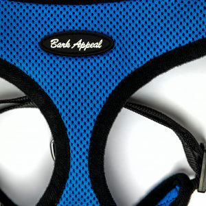 blue mesh pullover dog harness detail