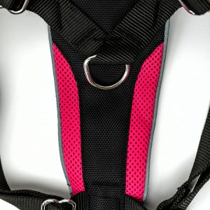 pink control dog harness detail