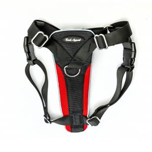 red control dog harness