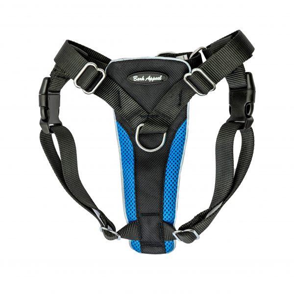 blue no pull dog harness