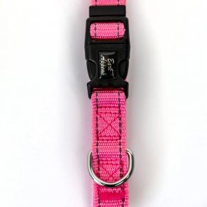 Pink Reflective Trim Dog Collar