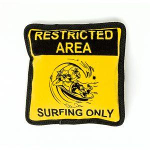 surfing plush dog toy pillow