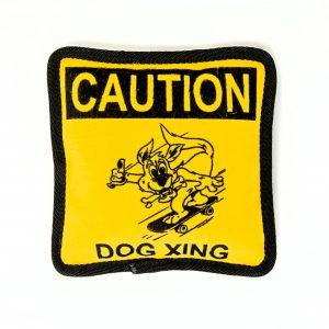 dog xing crossing plush dog toy pillow