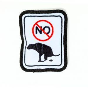 no pooping plush dog toy pillow