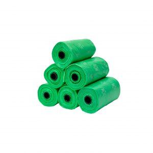 green dog waste poop bags 6 rolls