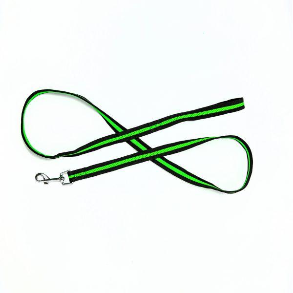 lime green mesh dog leash