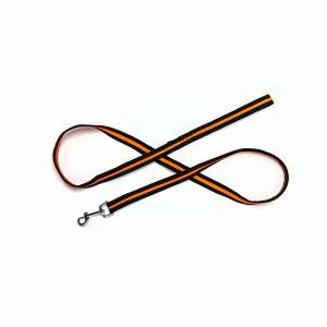 orange mesh dog leash