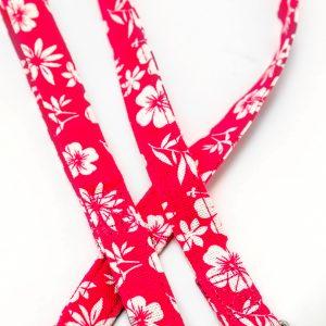 Pink Hibiscus Canvas Leash