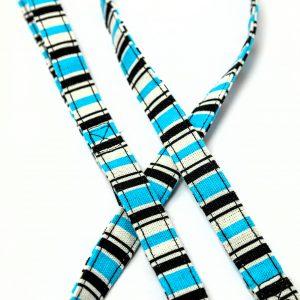 Blue Stripe Canvas Leash detail
