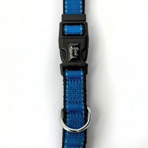 Blue Reflective Trim Collar dog